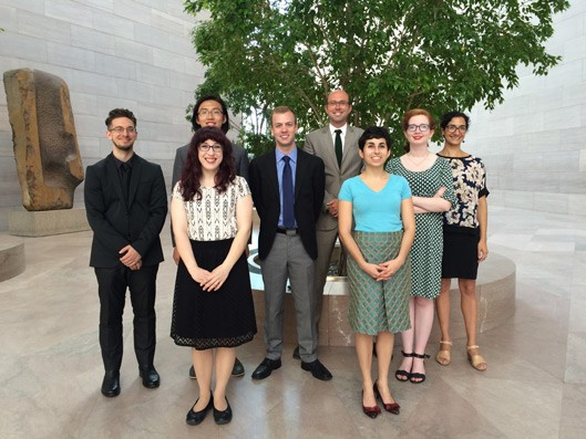 Back row: Pierce Brown, Jacob Zhicheng Zhang, Braxton Hinkle, Hardin Massie Minor Jr., Elizabeth Norman, and Maryam Athari Front row: Meg Milewski and Irini Zervas