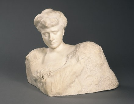 Auguste Rodin, Katherine Seney Simpson (Mrs. John W. Simpson), 1902-1903 marble, National Gallery of Art, Washington, Gift of Mrs. John W. Simpson
