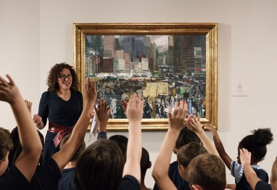 A Gallery educator uses critical thinking strategies to engage students in a lesson filmed at the museum and available anywhere in the world.