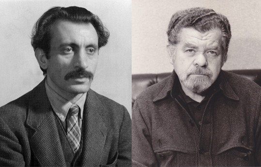 Left: Charles Von Urban, Arshile Gorky, December 10, 1936. Federal Art Project, Photographic Division collection, Archives of American Art, Smithsonian Institution; right: Unknown photographer, Nathan Lerner, 1980s. Courtesy of Kiyoko Lerner