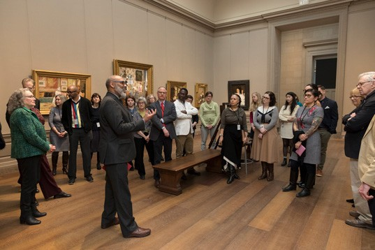 CASVA members tour the permanent collection with Richard J. Powell, Edmond J. Safra Visiting Professor.
