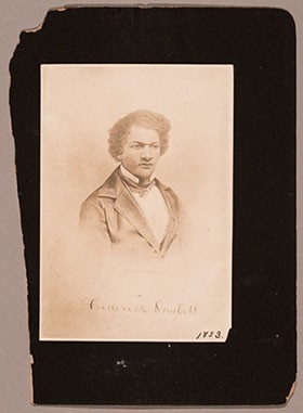 Andrew & Ives, Frederick Douglass, 1863, albumen print, 4 x 2 1/2 in., National Gallery of Art, Washington, Pepita Milmore Memorial Fund