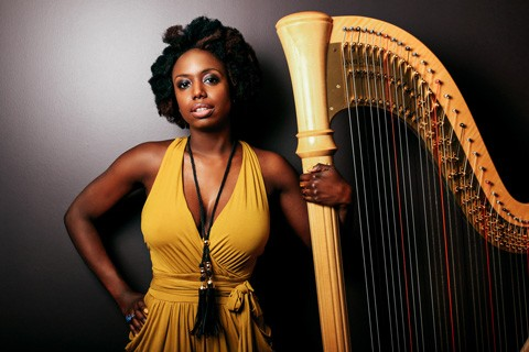 Harpist Brandee Younger will perform at the National Gallery of Art on April 28 at 3:30 p.m. Photo by Kyle Pompey