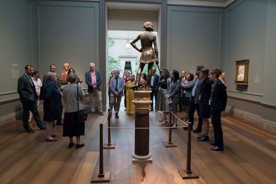 CASVA members tour the exhibition Verrocchio: Sculptor and Painter of Renaissance Florence in October 2019