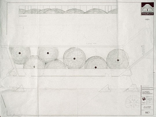 Andy Goldsworthy, Working Drawing for Roof, 2004, pencil on paper. Courtesy of the artist and Galerie Lelong