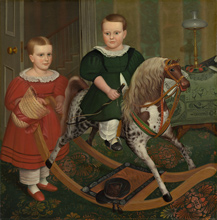 Robert Peckham, The Hobby Horse, c. 1840 oil on canvas National Gallery of Art, Washington, Gift of Edgar William and Bernice Chrysler Garbisch