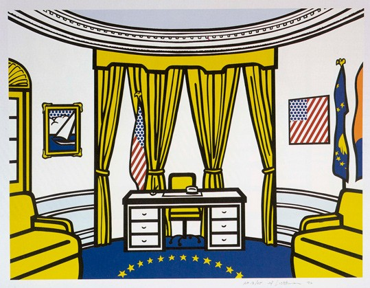 Roy Lichtenstein, The Oval Office, 1992, color screenprint National Gallery of Art, Washington Gift of Roy and Dorothy Lichtenstein 1996.56.126