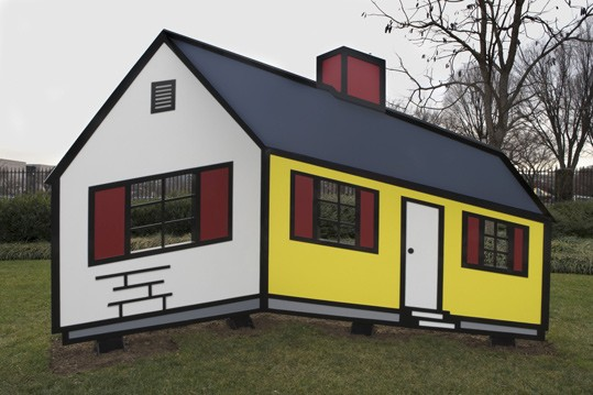 Roy Lichtenstein, House I, model 1996 fabricated 1998, fabricated and painted aluminum National Gallery of Art, Washington Gift of The Morris and Gwendolyn Cafritz Foundation
