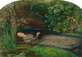 John Everett Millais, Ophelia, 1851-1852 oil on canvas Tate. Presented by Sir Henry Tate 1894