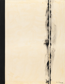 Barnett Newman, First Station, 1958 Magna on canvas Collection of Robert and Jane Meyerhoff