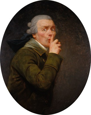 Joseph Ducreux, Le Discret, c. 1791, oil on aluminum, transferred from canvas, Spencer Museum of Art, The University of Kansas