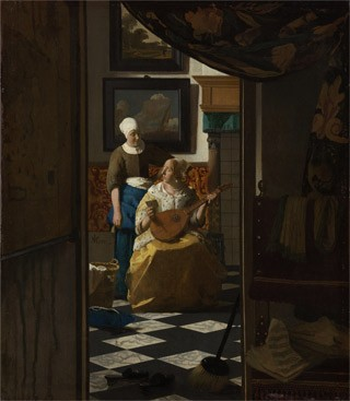 Johannes Vermeer The Love Letter, c. 1669-70 oil on canvas, Rijksmuseum, purchased with the support of Vereniging Rembrandt