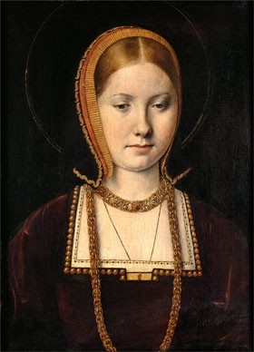 Michel Sittow, 'Mary Rose Tudor' (1496–1533), Sister of Henry VIII of England, c. 1514 oil on panel. Kunsthistorisches Museum Wien, Gemäldegalerie KHM—Museumsverband