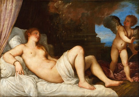 Titian, Danaë (1544–1545), oil on canvas, Capodimonte Museum, Naples. Courtesy of the Photography Department of the Superintendency of Cultural Heritage for the City and the Museums of Naples and the Royal Palace of Caserta/Luciano Basagni, Fabio Speranza