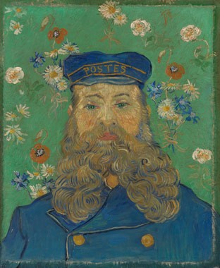 "Vincent van Gogh ""Portrait of Joseph Roulin,"" February - March 1889 oil on canvas overall: 65 54 cm (25 9/16 21 1/4 in.) framed: 80.5 69.5 9 cm (31 11/16 27 3/8 3 9/16 in.) Kröller-Müller Museum, Otterlo, The Netherlands"
