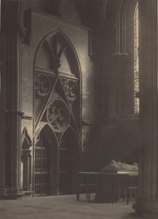 "Frederick H. Evans, York Minster, North Transept: ""In Sure and Certain Hope,"" 1902, platinum print, National Gallery of Art, Washington, Carolyn Brody Fund and Pepita Milmore Memorial Fund"