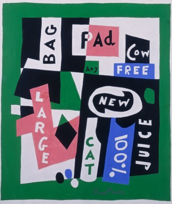 Stuart Davis, Package Deal, 1956. gouache and pencil on paper Lawrence B. Benenson Collection Art © Estate of Stuart Davis/Licensed by VAGA, New York, NY