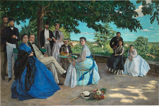 "Frédéric Bazille, ""Portraits of the *** Family, called The Family Gathering"", 1867, oil on canvas. Musée d'Orsay, Paris, purchased with the assistance of Marc Bazille, 1905"
