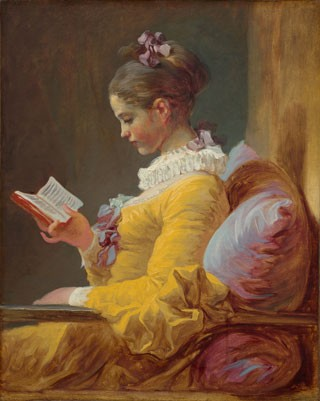 Jean Honoré Fragonard, Young Girl Reading, c. 1769, oil on canvas, National Gallery of Art, Washington, Gift of Mrs. Mellon Bruce in memory of her father, Andrew W. Mellon