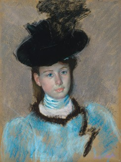 Mary Cassatt, The Black Hat, c. 1890 pastel National Gallery of Art, Washington, Collection of Mr. and Mrs. Paul Mellon