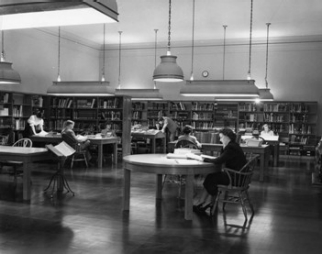 West Building Library, c. 1950