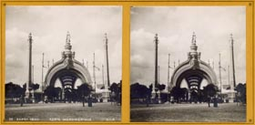Main Entrance (Porte Monumental) René Binet, architect View of the entire stereo card.