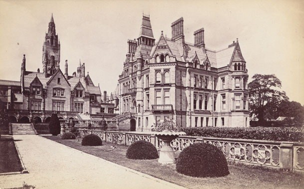 Eaton Hall, Cheshire, Alfred Waterhouse, architect, 1870-1883, demolished 1961; albumen print, photograph Gramstorff Collection