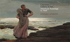 "Image: Book Cover of ""Corcoran Gallery of Art: American Paintings to 1945, Scholarly Apparatus"""