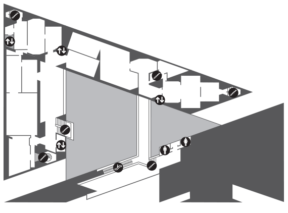 Map of East Building Upper Level