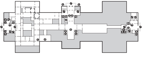 Map of West Building Ground Floor